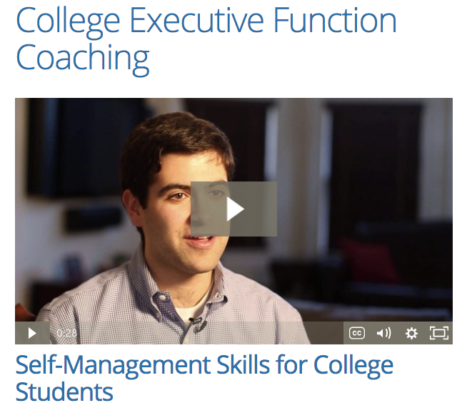 Coaching for college students