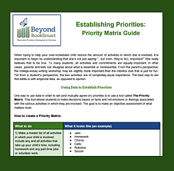 Priority matrix guide
