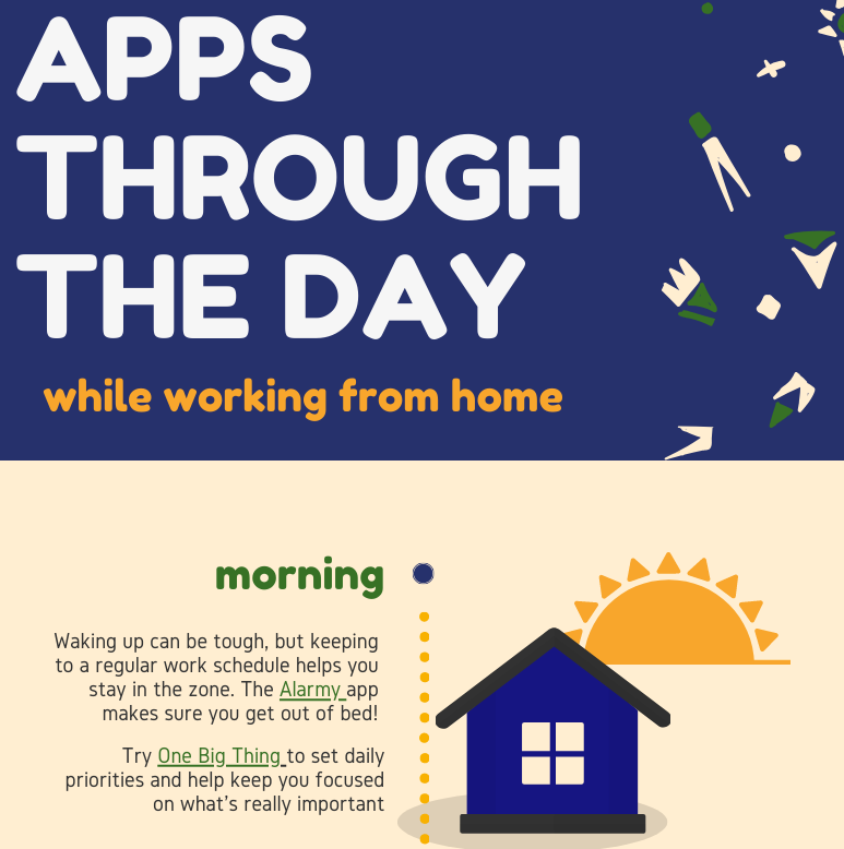 WFH Adult Apps through the day