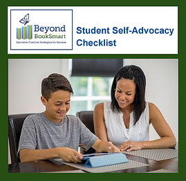 Self advocacy checklist